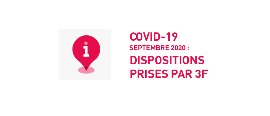 Nouvelles dispositions COVID 19 au 1er septembre